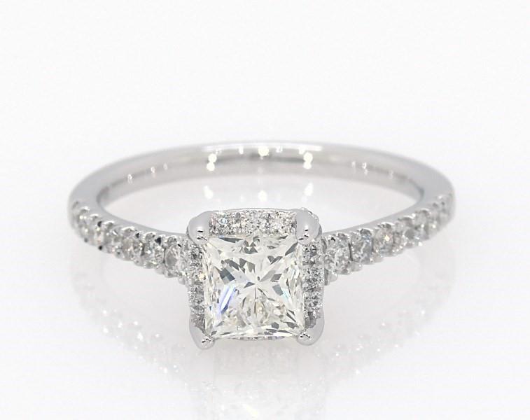Princess Cut Diamond Engagement Ring 1 1 3 Ct Tw 14k White Gold Halo Engagement And Wedding Jared