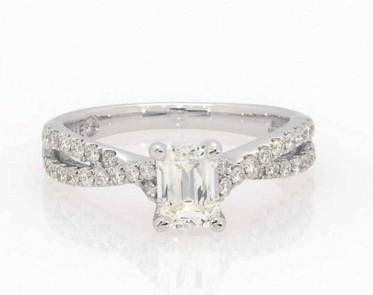 138bf9812 Segoma Image. Segoma 3D Image Player v5.1.21. Goto Segoma.com. Close. Large  View. Emerald-Cut Leo Diamond Engagement Ring 1 ct tw 14K White Gold ...