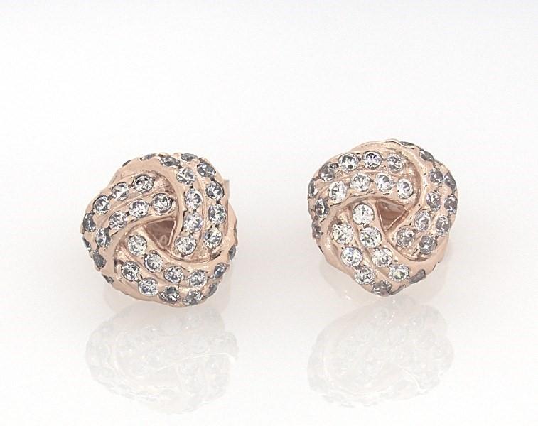 1efba1466 PANDORA Rose Earrings Sparkling Love Knot - 802279606 - Jared