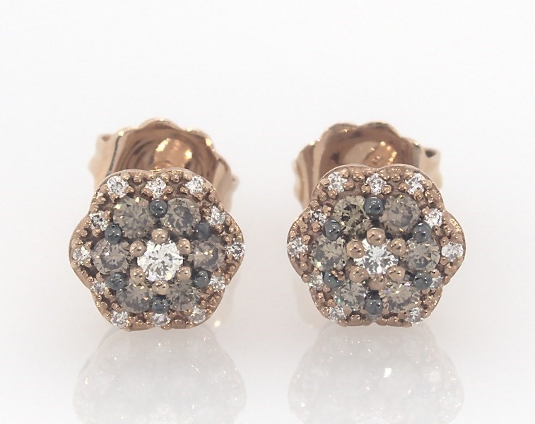 da0889670 Le Vian Chocolate Diamonds 1/3 cttw Earrings 14K Gold - 181318104 ...