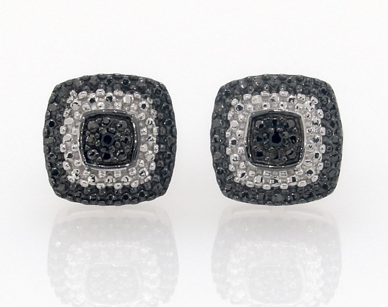 513f7cf65 Black Diamond Earrings Sterling Silver - 181340605 - Kay