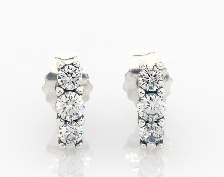 PANDORA Earrings Sparkling Elegance Sterling Silver