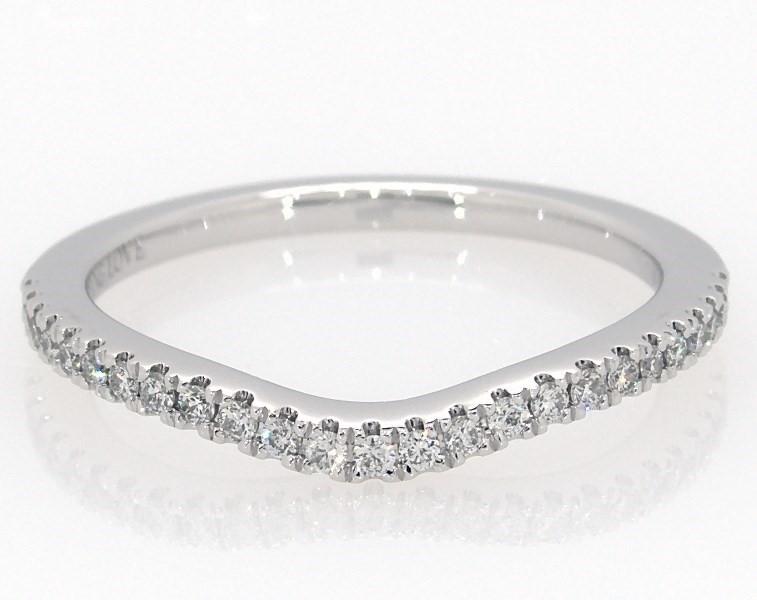 ef1dbde65 Vera Wang LOVE 1/6 carat tw Diamonds 14K White Gold Band - 31827809 ...
