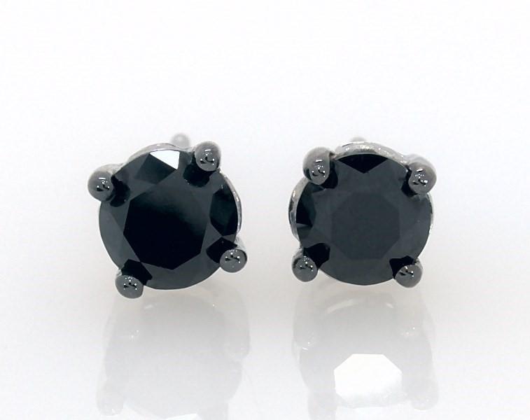 c0640c534 Segoma Image. Segoma 3D Image Player v5.1.21. Goto Segoma.com. Close. Large  View. Black Diamond Earrings 1 ct tw Round-cut 10K White Gold ...