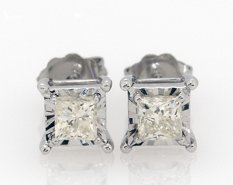 7de23e6cae Radiant Reflections 3/4 ct tw Diamonds 10K White Gold Earrings ...