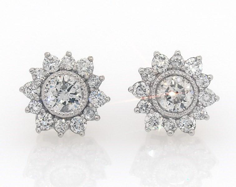 d60d56db7 Diamond Earrings 1 carat tw Bezel-set 14K White Gold - 182147506 - Jared