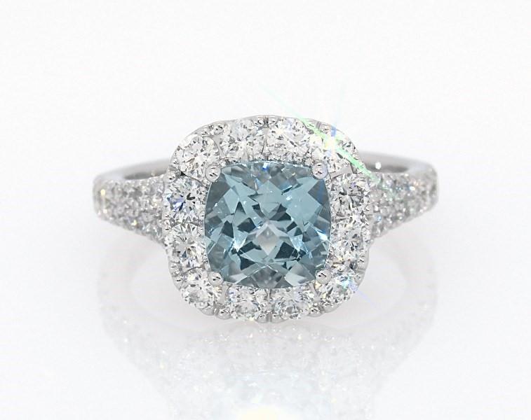 fbb176542 Segoma 3D Image Player v5.1.21. Goto Segoma.com. Close. Large View. Neil  Lane Aquamarine Ring 1-1/4 ct tw Diamonds ...