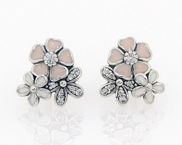 8ff2af422 PANDORA Earrings Poetic Blooms Sterling Silver - 802147001 - Jared