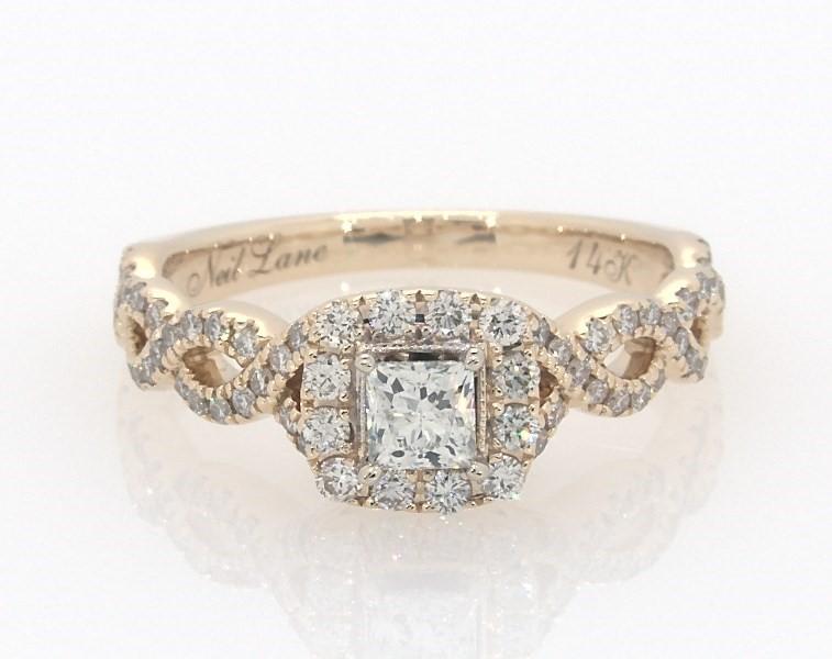db4d34903cbbd Neil Lane Engagement Ring 5/8 cttw Princess-cut 14K Yellow Gold