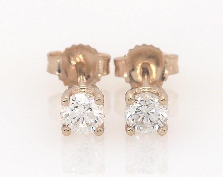 Diamond Earrings 1 2 Ct Tw Round Cut 14k Yellow Gold Jared