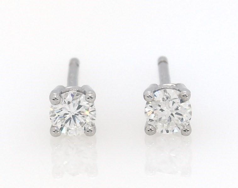 cf04e651d Diamond Solitaire Earrings 1/4 ct tw Round-cut 14K White Gold ...