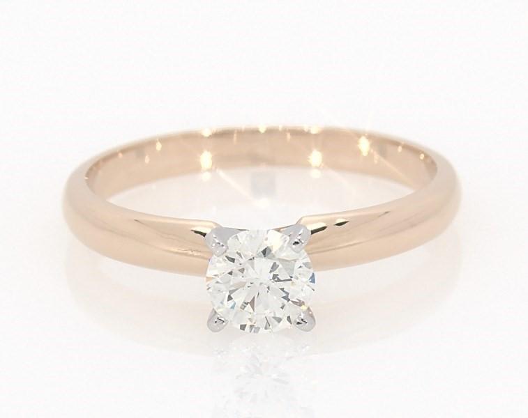 1878fe76cef30 Diamond Solitaire Ring 1/2 carat Round-Cut 14K Yellow Gold