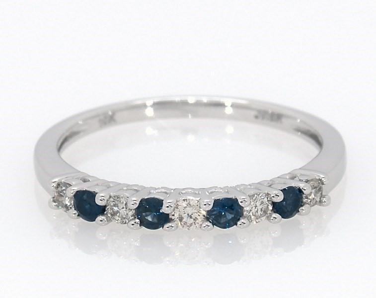 6b3dbf775 Natural Sapphire Ring 1/6 ct tw Diamonds 10K White Gold - 532805506 ...