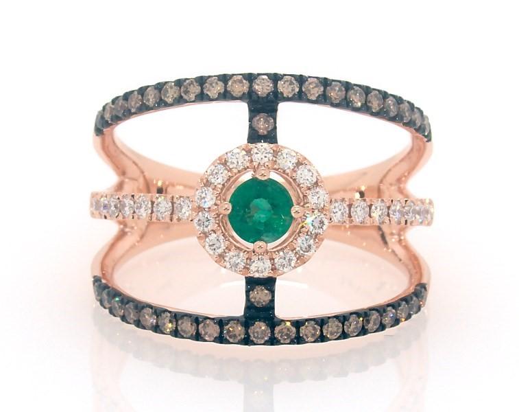 Le Vian Natural Emerald Ring 1 2 Ct Tw Diamonds 14k Gold Le Vian