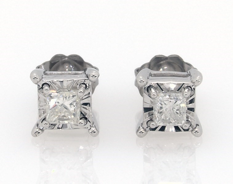 ccab18d6c5 Radiant Reflections 1/2 ct tw Diamonds 10K White Gold Earrings ...