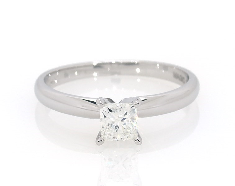 Diamond Solitaire Ring 1 2 Carat Princess Cut 14k White Gold Solitaire Engagement And Wedding Jared