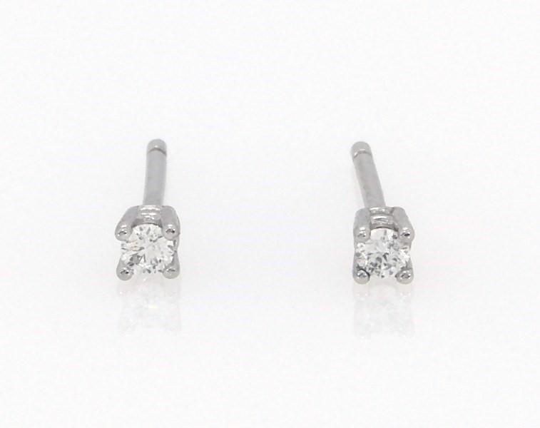 3e7be91b3 Diamond Earrings 1/20 ct tw Round-cut 14K White Gold - 200248401 - Kay