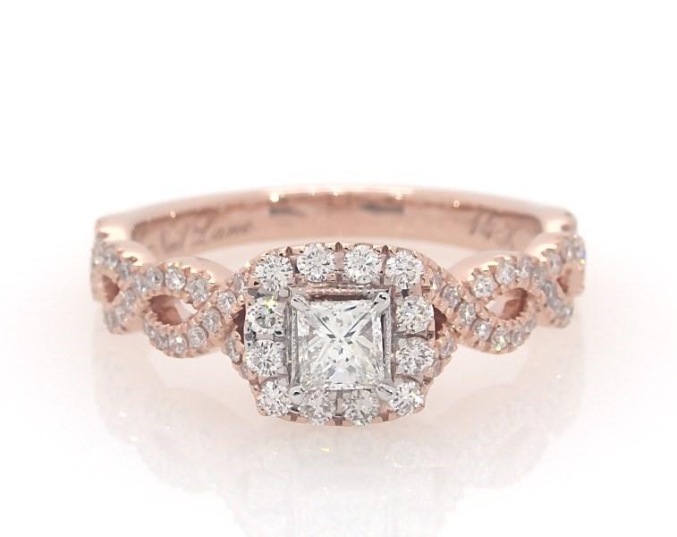 d61c330f8a074 Neil Lane Engagement Ring 5/8 ct tw Princess-cut 14K Rose Gold