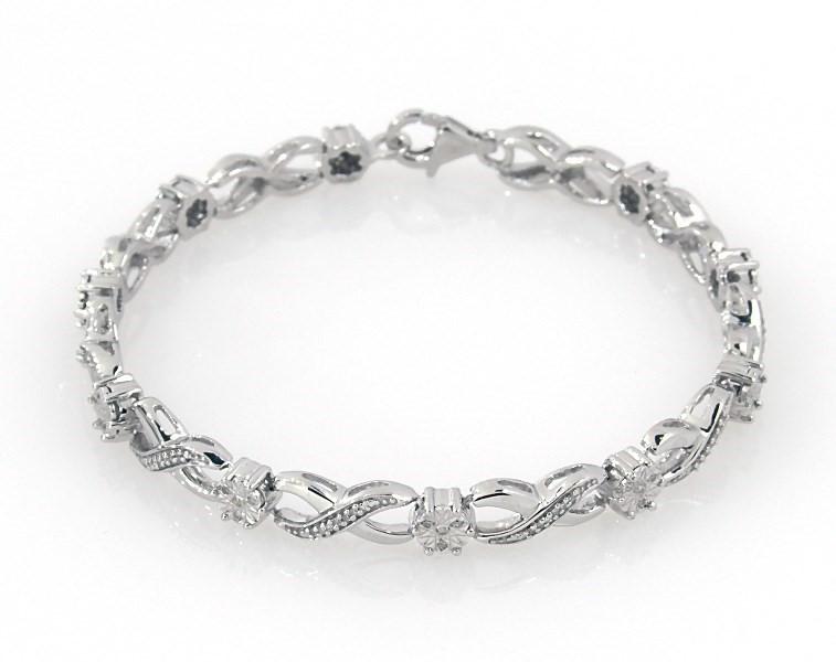 Diamond Bracelet 1/4 carat tw Sterling Silver