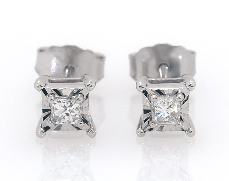 Radiant Reflections 1 3 Ct Tw Diamonds Sterling Silver Earrings Jared