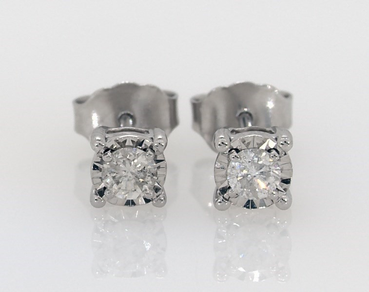 Solitaire Earrings 1 3 Ct Tw Diamonds Sterling Silver Jared