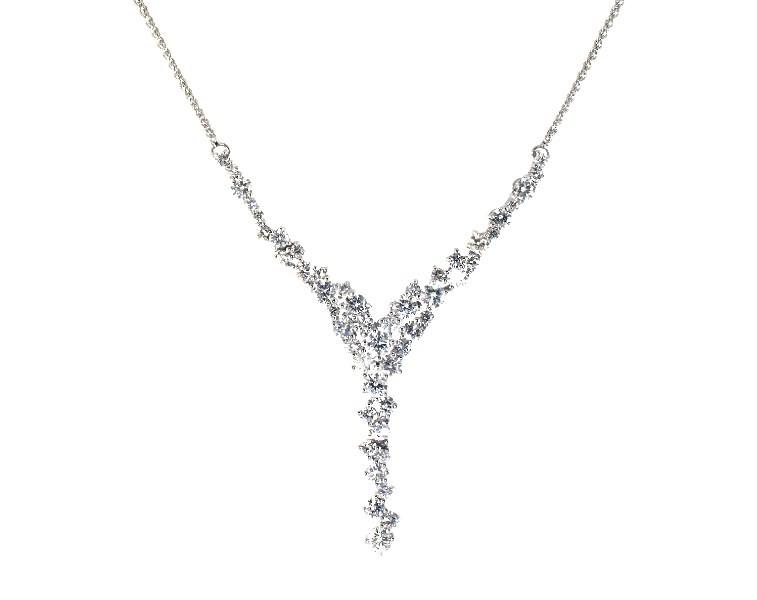 Diamond Necklace 2 1 2 Ct Tw Round Cut 14k White Gold Diamond Necklaces Diamonds Jared