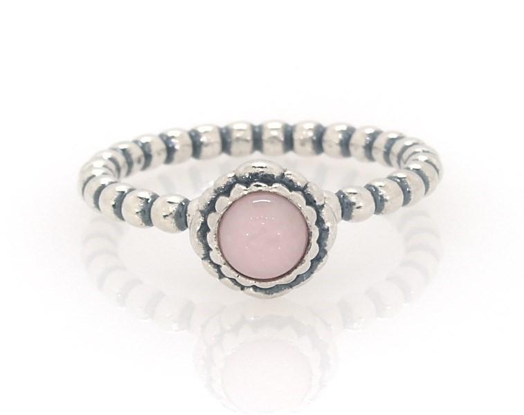 Pandora Birthstone Ring Pink Opal Sterling Silver Pandora