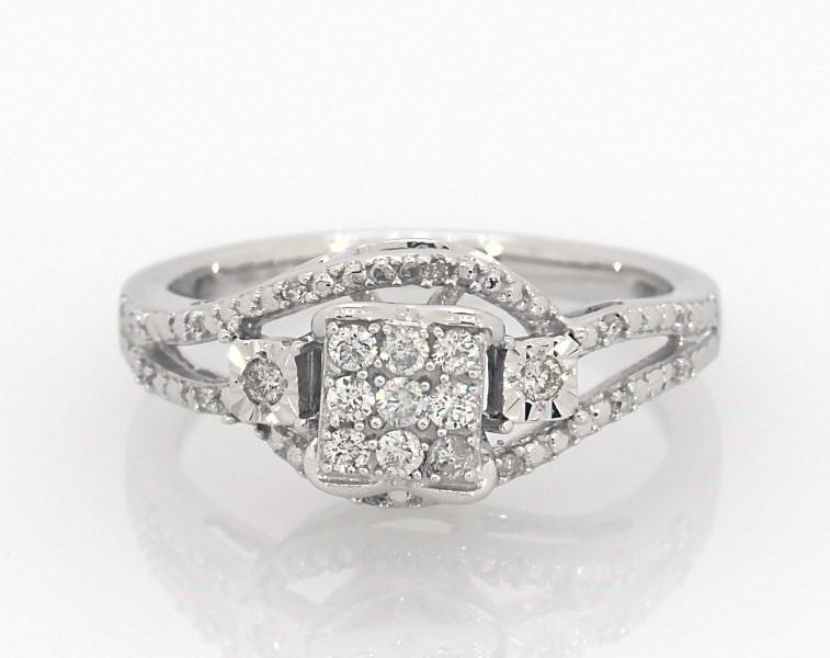 b80cd15802 Diamond Ring 1/5 carat tw 10K White Gold - 23645308 - Kay