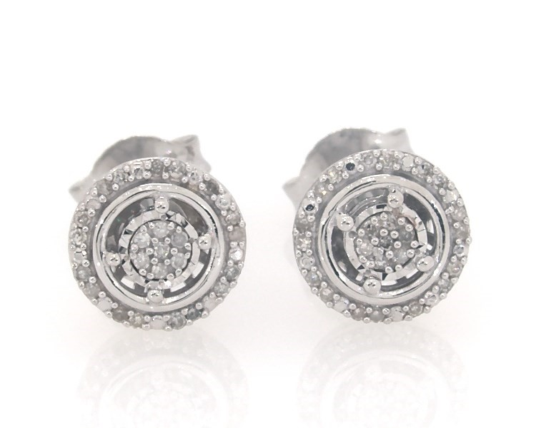 e9ef7c210 Segoma Image. Segoma 3D Image Player v5.1.21. Goto Segoma.com. Close. Large  View. Diamond Earrings 1/10 ct tw Round-cut Sterling Silver ...