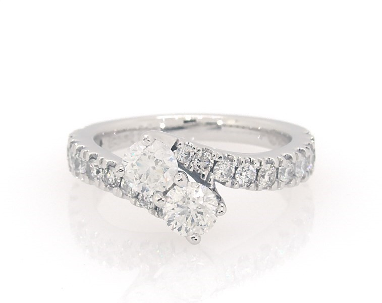 Ever Us Two Stone Ring 1 1 2 Ct Tw Diamonds 14k White Gold Anniversary Rings Rings Jewelry Jared